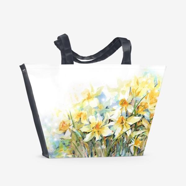 Пляжная сумка «Нарциссы жёлтые»
