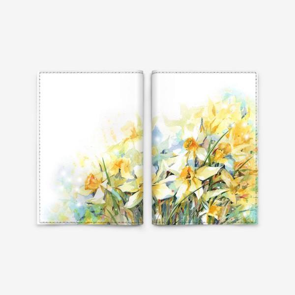 Обложка для паспорта «Нарциссы жёлтые»