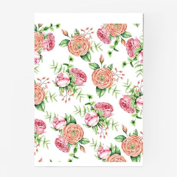 Постер «Watercolor spring bloom»