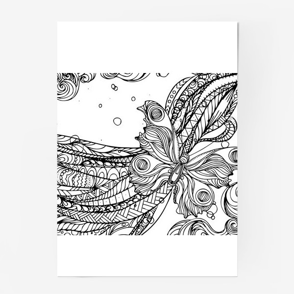 Постер «бабочка и волны»