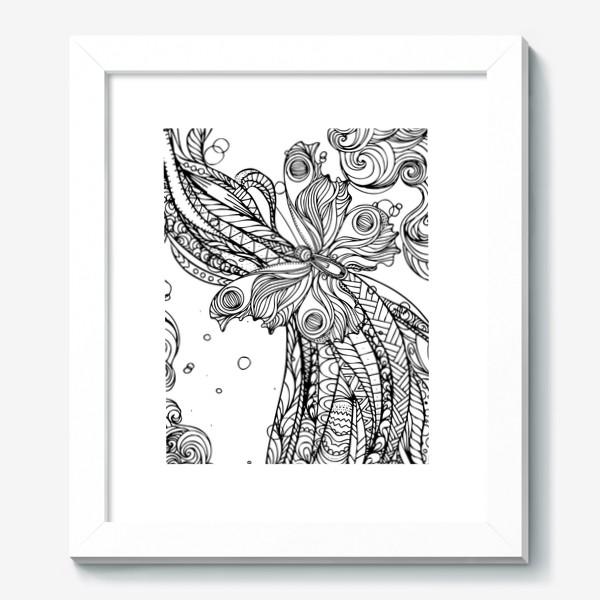 Картина «бабочка и волны»