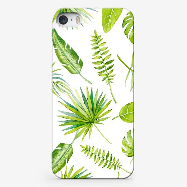 Чехол iPhone «Tropical leaves»