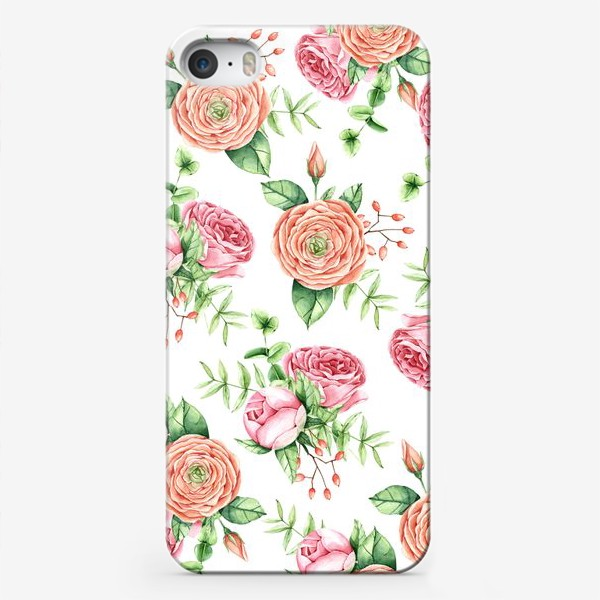 Чехол iPhone «Watercolor spring bloom»