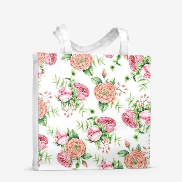 Сумка-шоппер «Watercolor spring bloom»
