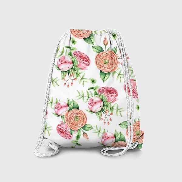 Рюкзак «Watercolor spring bloom»