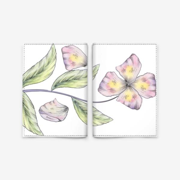 Обложка для паспорта «Нежный цветок»