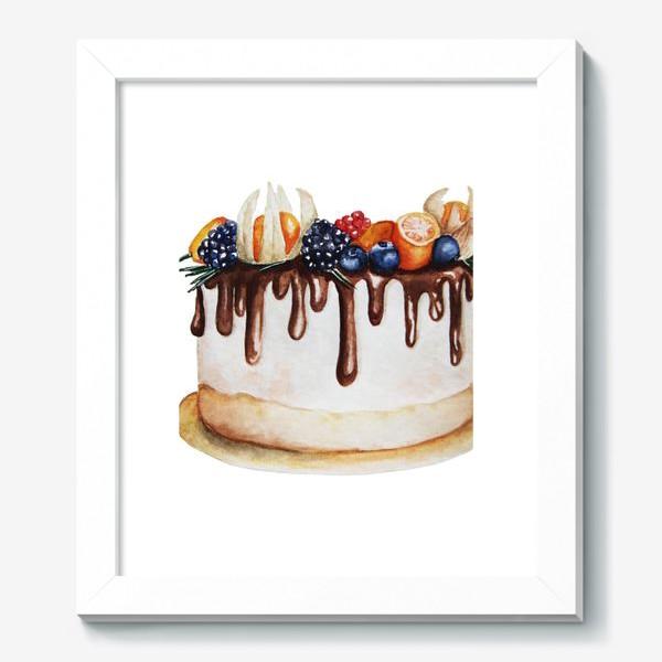 Картина «Торт с ягодами»
