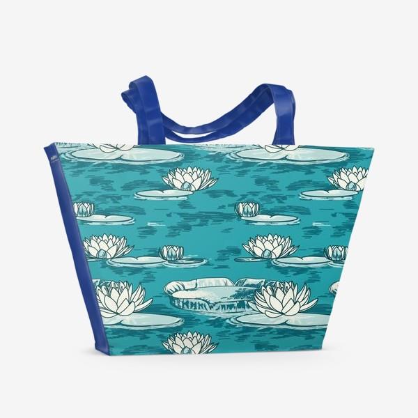 Пляжная сумка «Кувшинки»