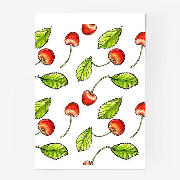 Постер «вишня»