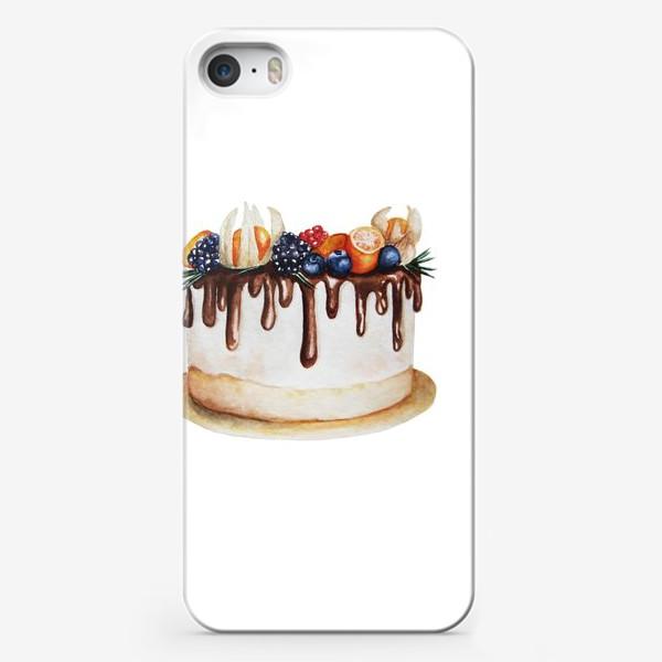 Чехол iPhone «Торт с ягодами»