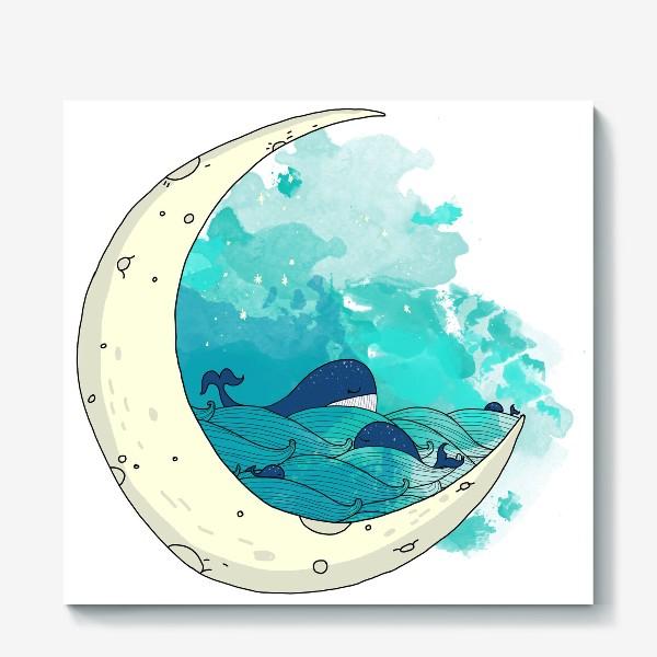 Холст «Китовая сказка 2»