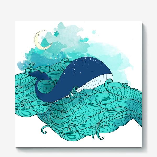 Холст «Китовая сказка 3»