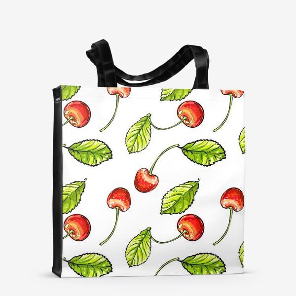 Сумка-шоппер «вишня»