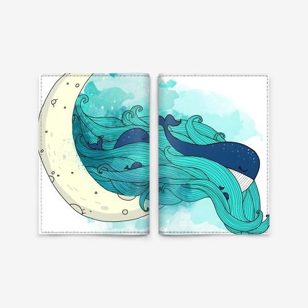 Обложка для паспорта «Китовая сказка 1»