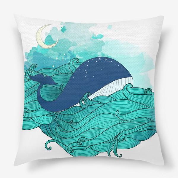 Подушка «Китовая сказка 3»