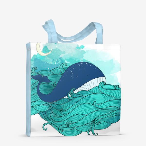 Сумка-шоппер «Китовая сказка 3»