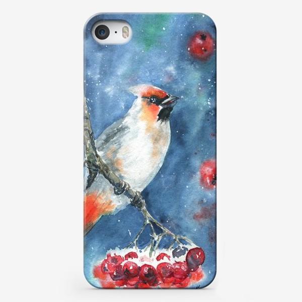 Чехол iPhone «Птица и рябина»