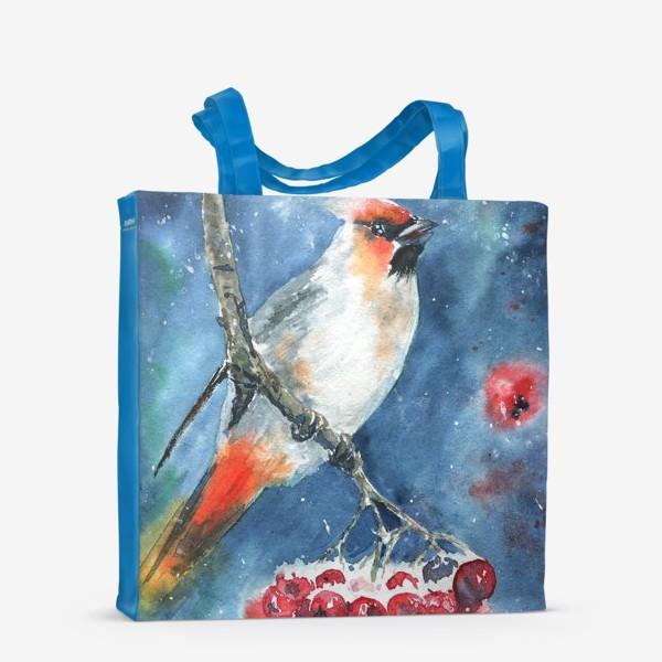 Сумка-шоппер «Птица и рябина»