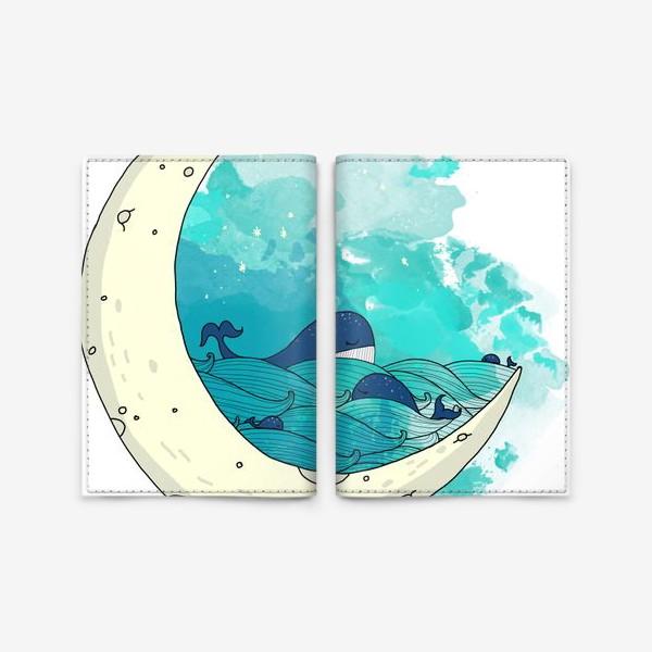 Обложка для паспорта «Китовая сказка 2»
