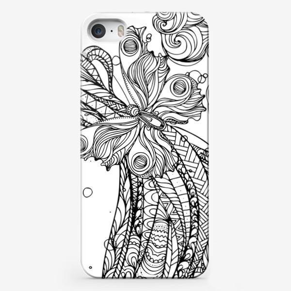 Чехол iPhone «бабочка и волны»