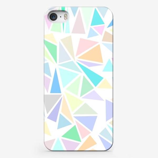Чехол iPhone «Пастельные треугольники»