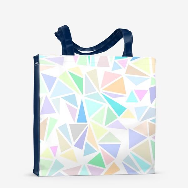 Сумка-шоппер «Пастельные треугольники»