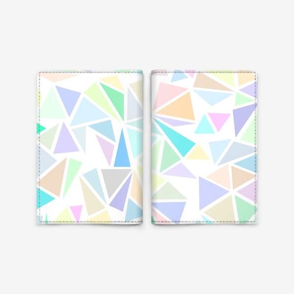 Обложка для паспорта «Пастельные треугольники»