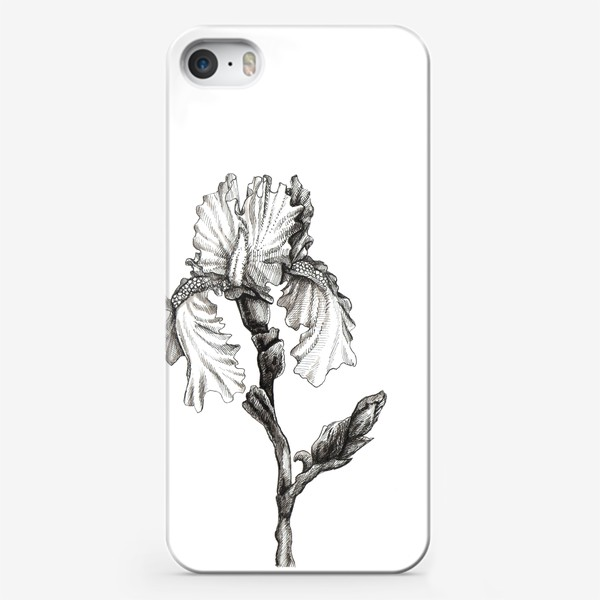 Чехол iPhone «Ирис. Черно-белая графика»