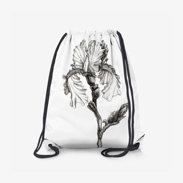 Рюкзак «Ирис. Черно-белая графика»