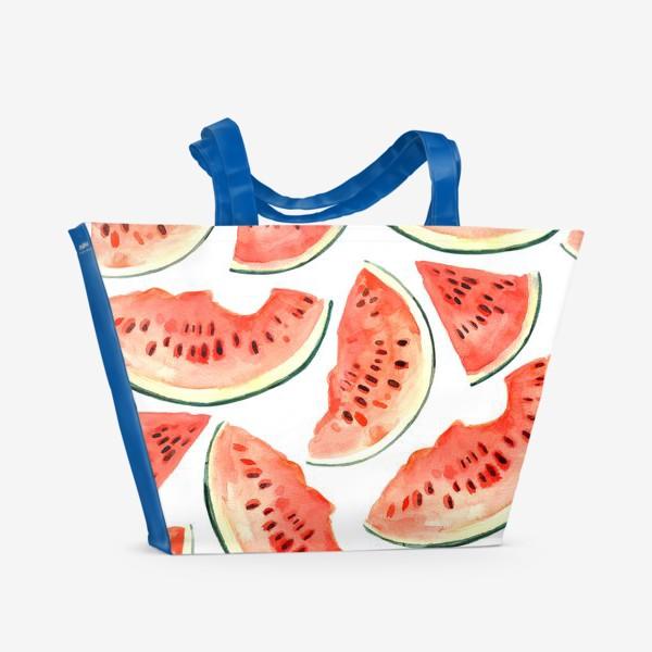 Пляжная сумка «Арбузный паттерн»