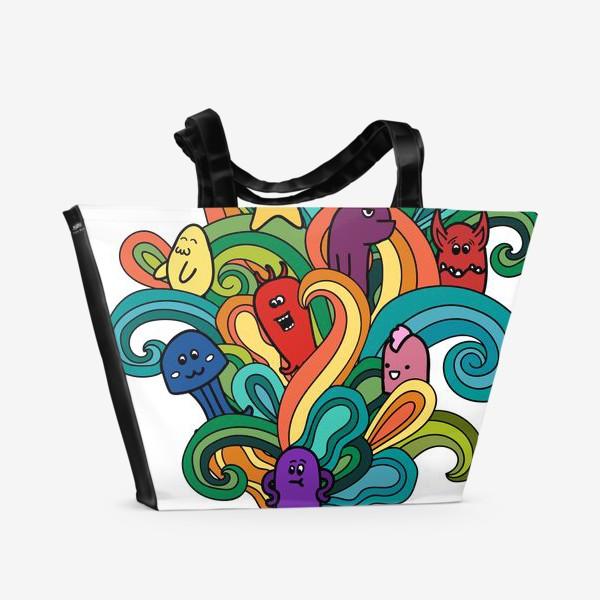 Пляжная сумка «Веселые монстры»