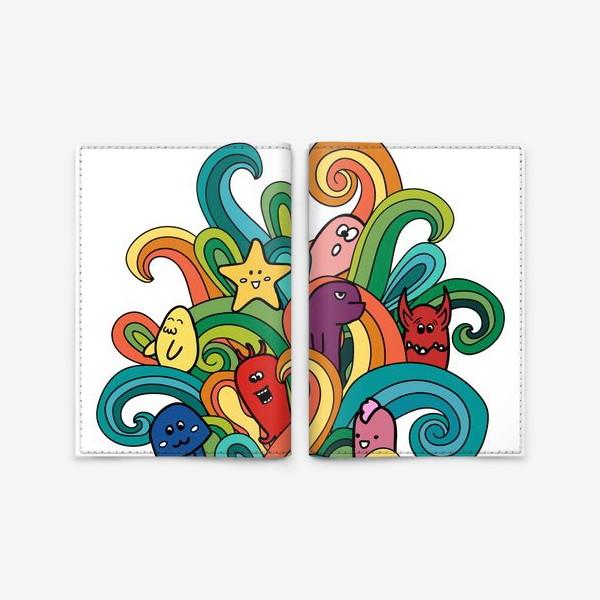 Обложка для паспорта «Веселые монстры»