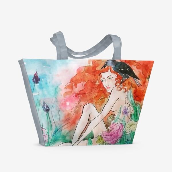 Пляжная сумка «дева в траве»