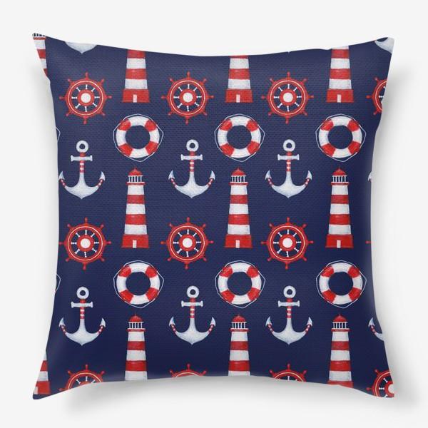 Подушка «Морской паттерн»