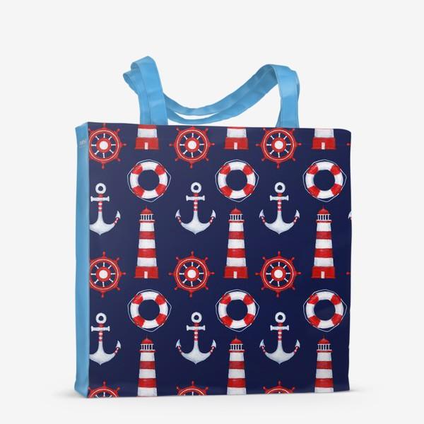 Сумка-шоппер «Морской паттерн»