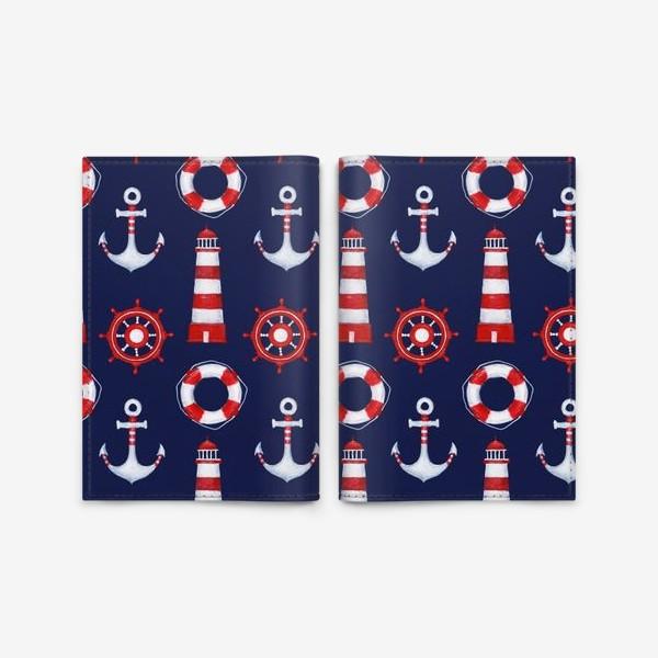 Обложка для паспорта «Морской паттерн»