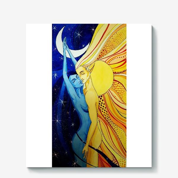 Холст «Солнце и Луна»