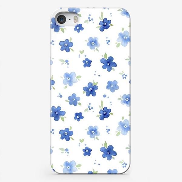 Чехол iPhone «Паттерн Незабудки»