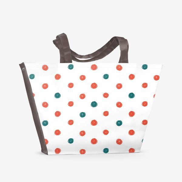 Пляжная сумка «В горошек »