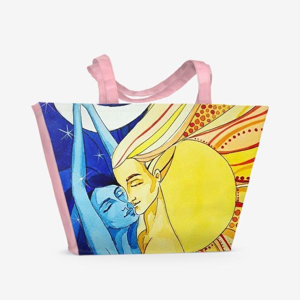 Пляжная сумка «Солнце и Луна»