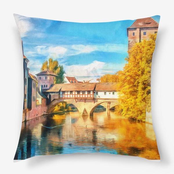 Подушка «Осень Нюрнберг»