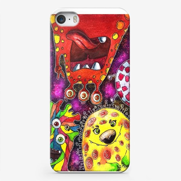 Чехол iPhone «Смешные инопланетяне»