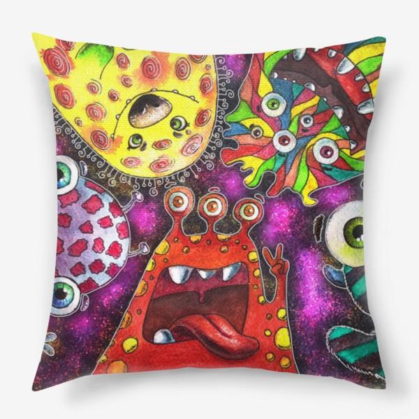 Подушка «Смешные инопланетяне»