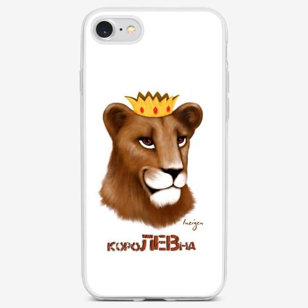 Чехол iPhone «короЛЕВна (на белом)»