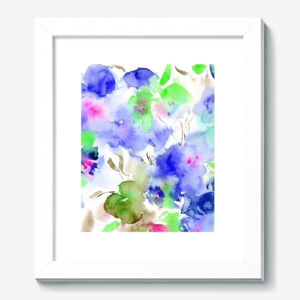 Картина «Акварельные цветы»
