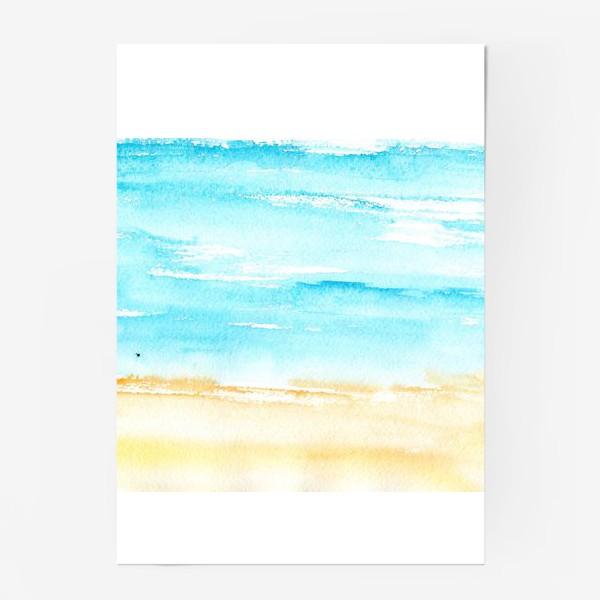 Постер «Акварельный пляж»