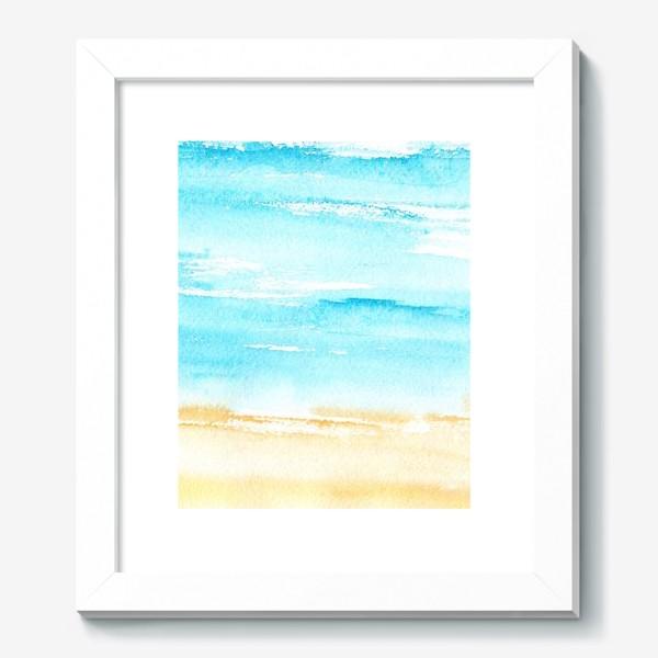 Картина «Акварельный пляж»