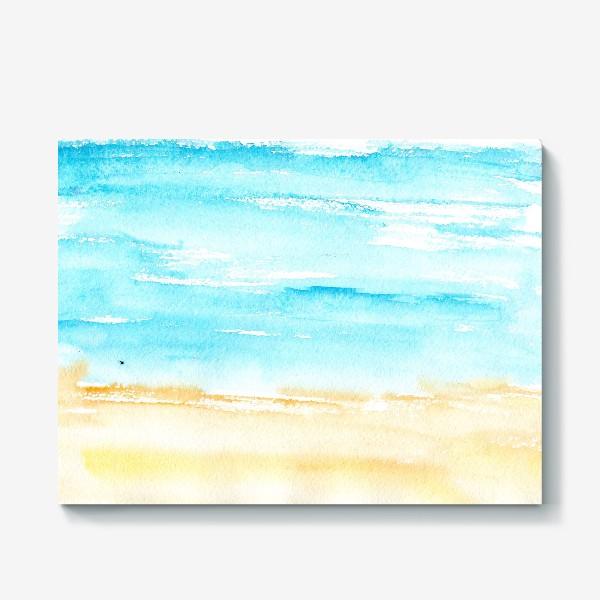 Холст «Акварельный пляж»