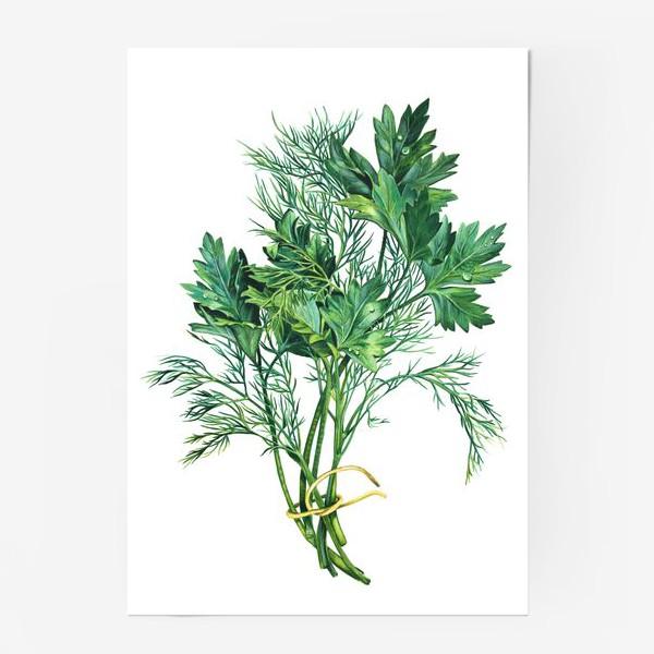 Постер «Свежая зелень»