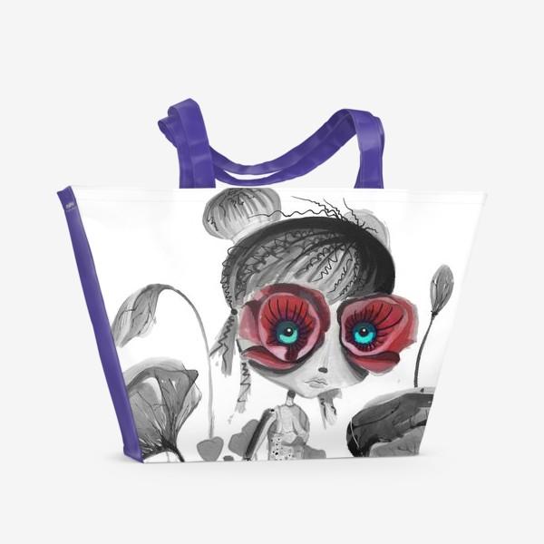 Пляжная сумка «Королева Маков»